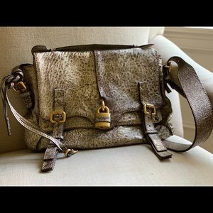 EUC Chloe messenger shoulder bag Metalic pewter